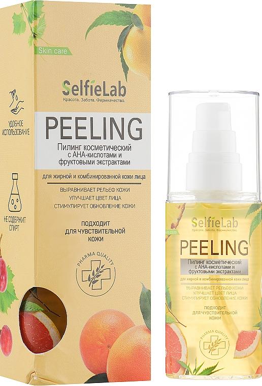 Пилинг с АНА-кислотами и фруктовыми экстрактами для жирной кожи лица - Selfielab Peeling