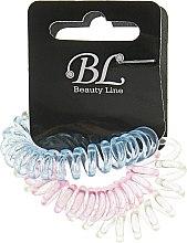 Духи, Парфюмерия, косметика Набор резинок для волос, 405004, прозрачно-желтая+прозрачно-малиновая+прозрачно-синяя - Beauty Line