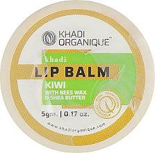 """Натуральный аюрведический бальзам для губ """"Киви"""" с пчелиным воском и мёдом - Khadi Organique Kiwi Fruit Lip Balm — фото N1"""