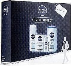 Парфумерія, косметика Набір - Nivea Men Silver Protect (ash/gel/100ml + deo/50ml + gel/200ml + sh/gel/250ml)