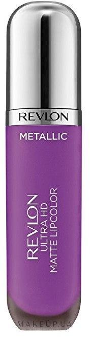 Матовый блеск для губ - Revlon Ultra HD Metallic Matte Lipcolor — фото Dazzle