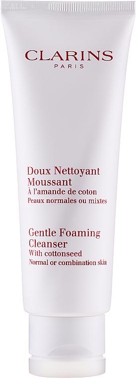 Очищающий пенящийся крем с экстрактом хлопка - Clarins Gentle Foaming Cleanser with Cottonseed