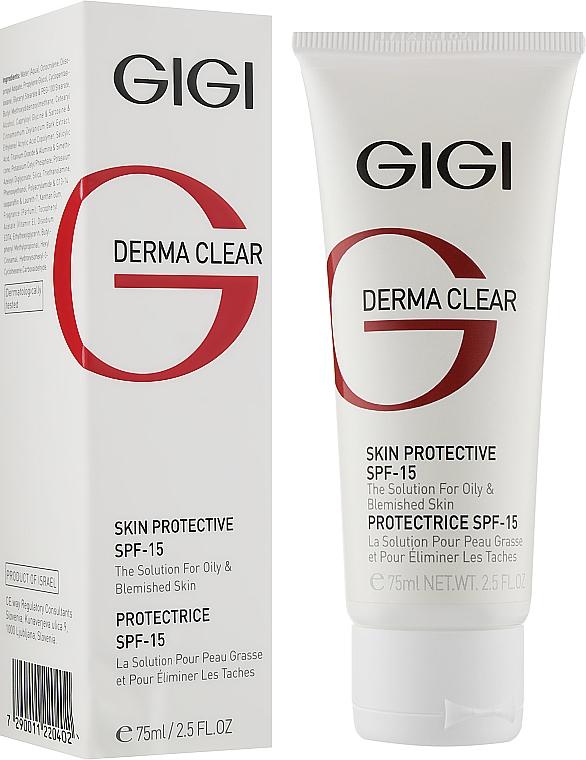 Захисний крем SPF-15 - Gigi Derma Clear Skin Protective Lotion SPF 15 — фото N2