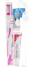 Духи, Парфюмерия, косметика Дорожный набор для гигиены полости рта, розовый - White Glo Travel Pack (t/paste/24g + t/brush/1 + t/pick/8)