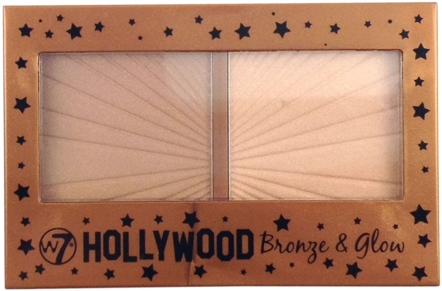 Хайлайтер для лица - W7 Cosmetics Hollywood Bronze Glow Duo Bronzer Highlighter