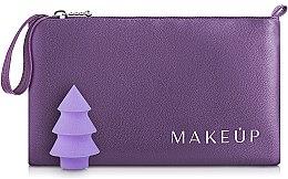 """Парфумерія, косметика Набір """"Сosmetic bag & beauty sponge"""", фіолетовий - MakeUp"""