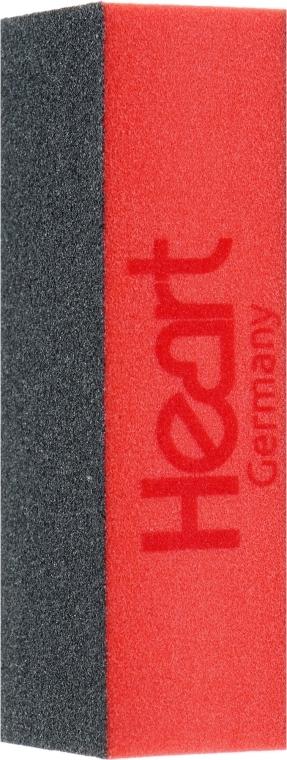 Баф 3-х сторонний для ногтей, черно-оранжевый - Heart Germany