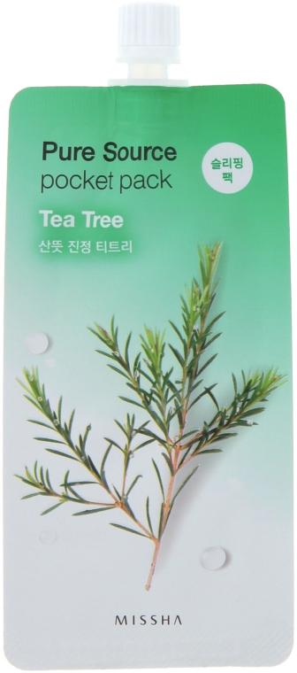 Ночная маска для лица с экстрактом чайного дерева - Missha Pure Source Pocket Pack Tea Tree
