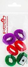 Духи, Парфюмерия, косметика Набор резинок для волос, 7576, 6 шт., фиолетовый + красный + зеленый - Reed