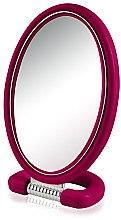 Духи, Парфюмерия, косметика Зеркало косметическое 9510, овальное, двухстороннее, 22.5 см, малиновое - Donegal Mirror