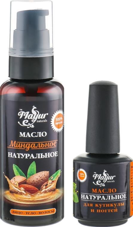 "Подарочный набор для кожи и ногтей ""Миндаль"" - Mayur (oil/50ml + nail/oil/15ml)"