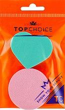 Духи, Парфюмерия, косметика Спонжи для макияжа, 35784, бирюзовый + розовый - Top Choice