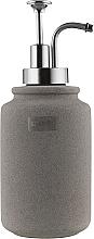 """Духи, Парфюмерия, косметика Дозатор для жидкого мыла """"Cement"""", керамика 11х8 см, серый - Spirella"""