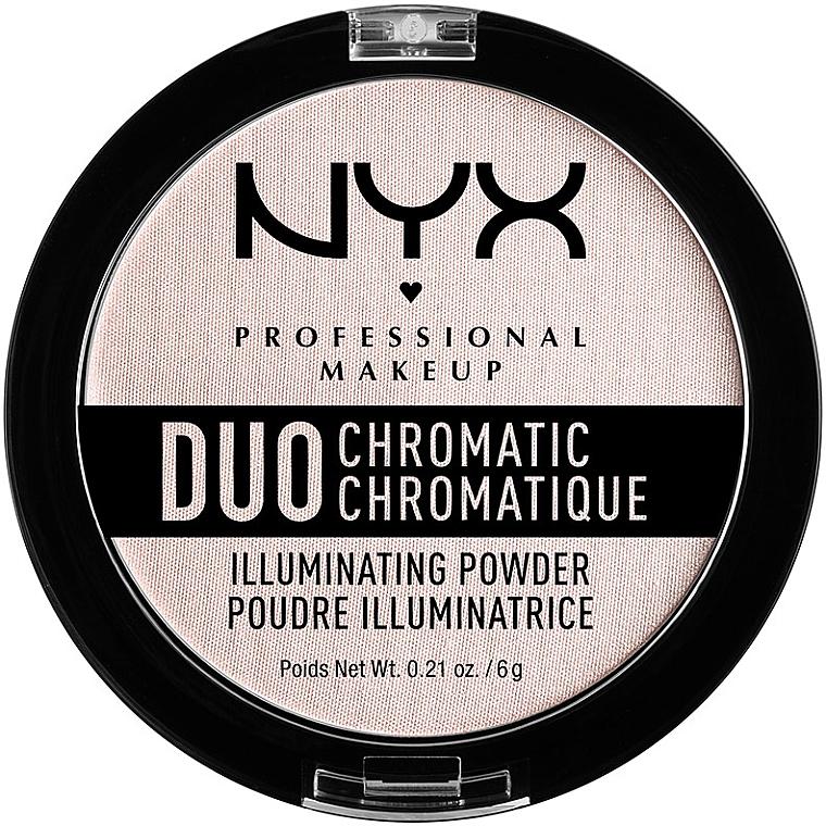 Хайлайтер для лица - NYX Professional Makeup Duo Chromatic Illuminating Powder