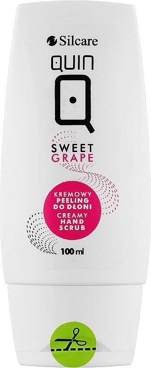 Кремовый пилинг для рук - Silcare Quin Hand Cream Peeling Sweet Grape