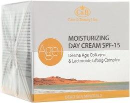 Духи, Парфюмерия, косметика Увлажняющий дневной крем с коллагеном SPF 15 - Care & Beauty Line Derma Age Collagen Moisturizing Day Cream SPF 15