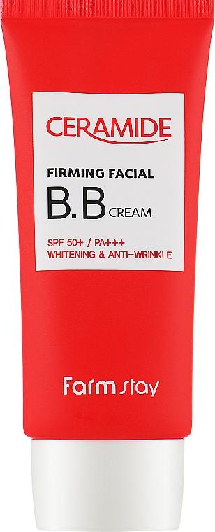 Укрепляющий BB-крем для лица с керамидами SPF 50 - FarmStay Ceramide Firming Facial B.B Cream