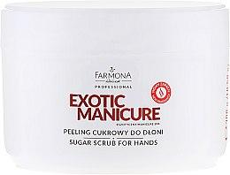 Духи, Парфюмерия, косметика Сахарный пилинг для рук - Farmona Professional Exotic Manicure Scrub