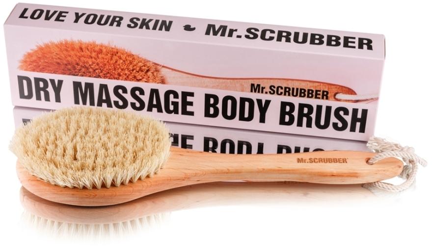 Щетка для сухого массажа с ручкой - Mr.Scrubber