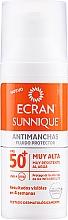 Духи, Парфюмерия, косметика Солнцезащитный уход за лицом - Ecran Sunnique Antimanchas Facial Spf50+