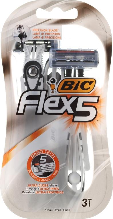 """Мужской станок для бритья """"Flex-5"""" - Bic"""