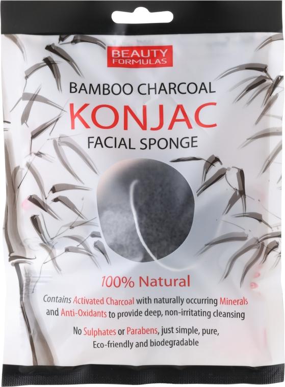 Спонж для умывания - Beauty Formulas Konjac Bamboo Charcoal Facial Sponge