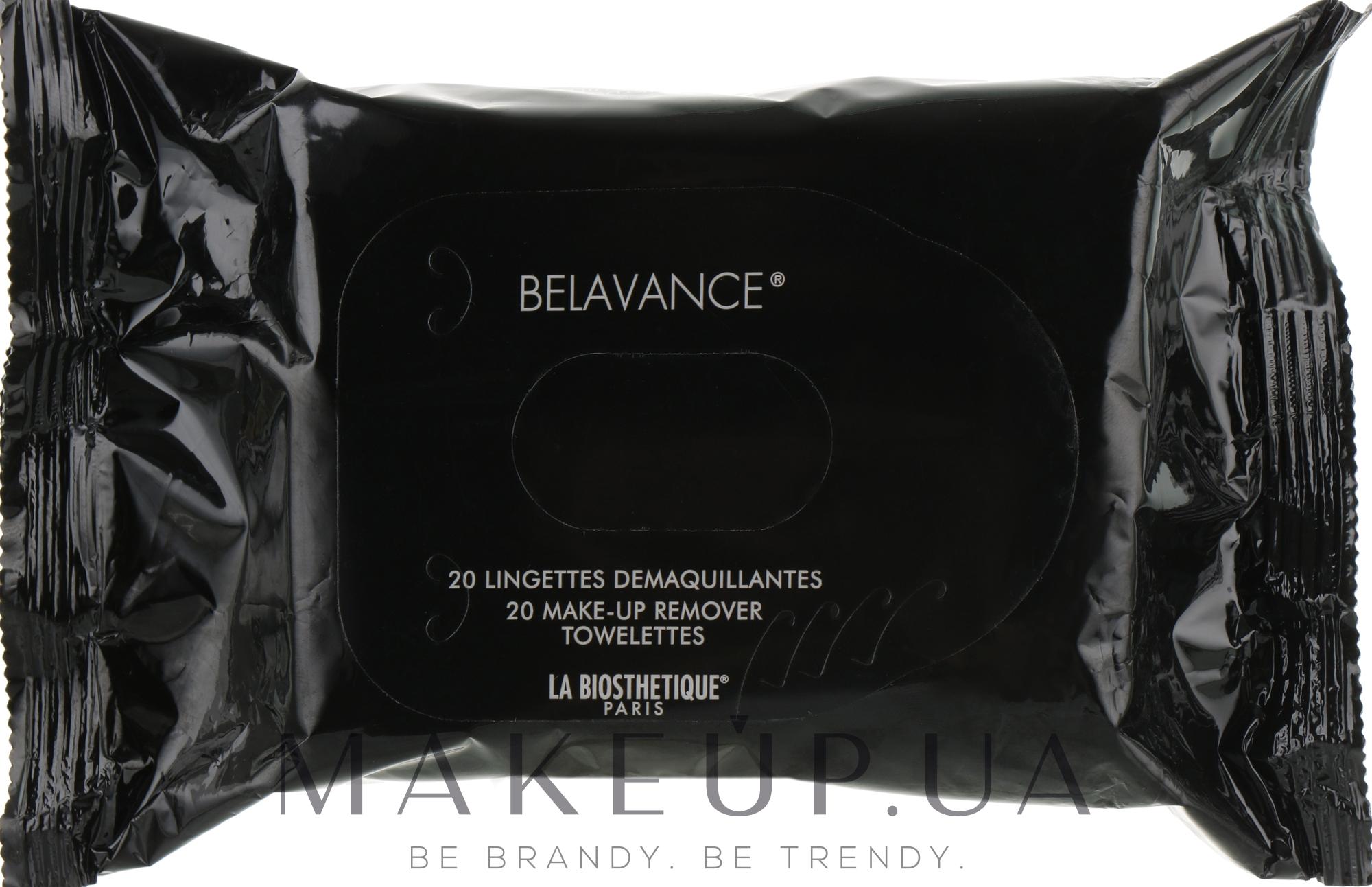 Серветки для зняття макіяжу з очей - La Biosthetique Belavance — фото 20шт