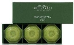 Духи, Парфюмерия, косметика Lorenzo Villoresi Olea Europaea - Набор (soap/3*100g)