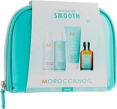 Духи, Парфюмерия, косметика Набор - Moroccanoil Smooth & Sleek Travel Kit (shm/70ml + cond/70ml + mask/75ml + oil/25ml + bag)