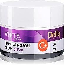 Духи, Парфюмерия, косметика Осветляющий смягчающий крем для лица SPF30 - Delia White Fusion Illuminating Soft Cream SPF 30
