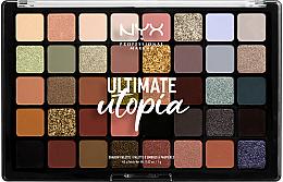 Духи, Парфюмерия, косметика УЦЕНКА Палетка теней - NYX Professional Makeup Ultimate Utopia Shadow Palette Summer 2020 *