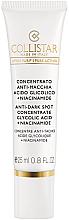 Духи, Парфюмерия, косметика Концентрат против пигментных пятен - Collistar Anti-Dark Spot Concentrate Glycolic Acid/Niacinamide (тестер)