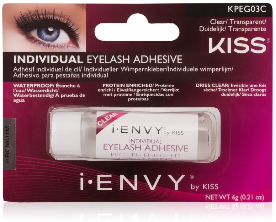 Клей для накладных пучков - Kiss IEnvy Long Lasting Individual Eyelash Adhesive Clear