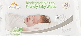 Духи, Парфюмерия, косметика Детские влажные салфетки, 24 шт. - Mommy Care Biodegradable Eco Baby Wipes