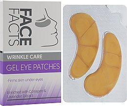 Духи, Парфюмерия, косметика Патчи под глаза гелевые - Face Facts Wrinkle Care Gel Eye Patches