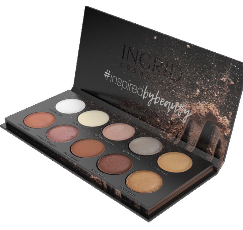 Профессиональная палитра теней для век - Ingrid Matt & Glam Nude Of Natural Beauty