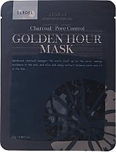Духи, Парфюмерия, косметика Тканевая маска для лица - Elroel Golden Hour Mask Charcoal Pore Control