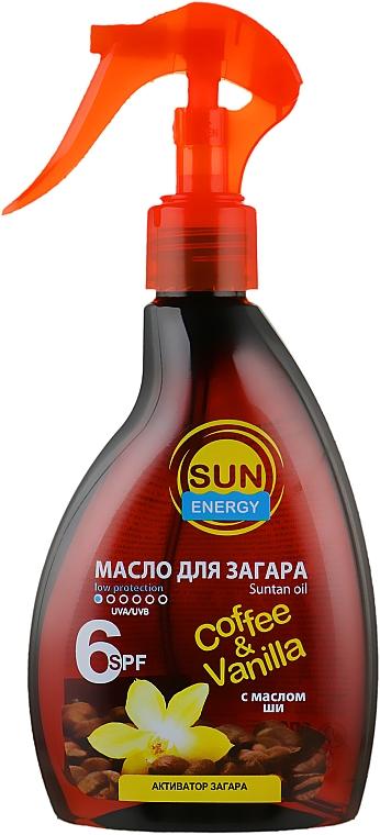 """Масло для загара """"Кофе и ваниль. Французская Полинезия"""" - Sun Energy Coffe&Vanilla Oil SPF6"""