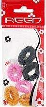 Духи, Парфюмерия, косметика Набор резинок для волос, 7576, 6шт, розовый + горчичный + черный - Reed