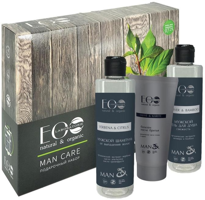 Набор - ECO Laboratorie Men Care (shm/200ml + sh/gel/200ml + ash/cr/100ml) — фото N1