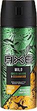 Духи, Парфюмерия, косметика Антиперспирант-аэрозоль - Axe Wild Green Mojito & Cedarwood