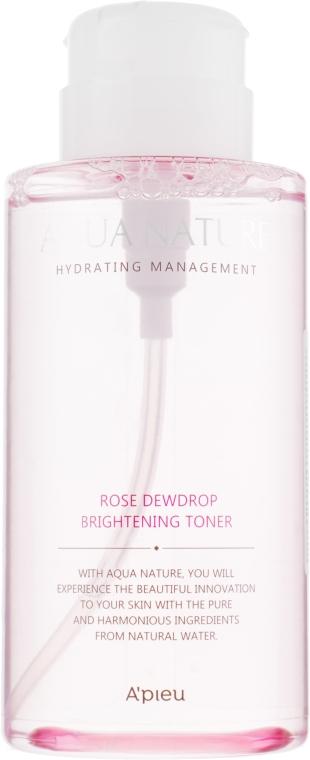 Осветляющий тонер - A'pieu Aqua Nature Rose Dew Drop Brightening Toner