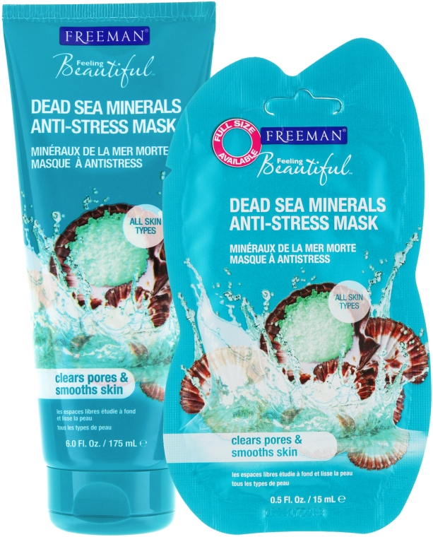 """Антистрессовая маска для лица """"Минералы Мертвого моря"""" - Freeman Facial Anti-Stress Mask Dead Sea Minerals"""