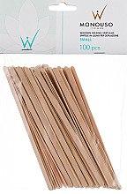 Духи, Парфюмерия, косметика Шпатель для депиляции узкий - ItalWax Wooden Waxing Spatulas Small