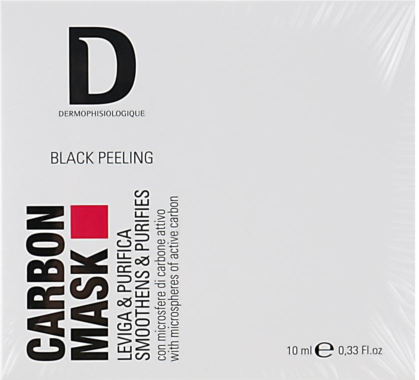 Карбоновая маска с активированным углем для лица - Dermophisiologique Black Peeling Carbon Mask (мини)