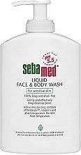 Духи, Парфюмерия, косметика Очищающее средство для лица и тела - Sebamed Sensitive Skin Liquid Face and Body Wash