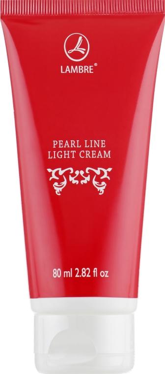 Увлажняющий крем для лица с экстрактом жемчуга - Lambre Pearl Line Light Cream