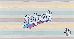 """Духи, Парфюмерия, косметика Гигиенические салфетки трехслойные """"Super Soft"""", 100шт, в полоску упаковка - Selpak"""