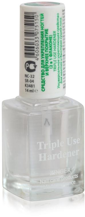 Средство для укрепления ногтей и верхнее покрытие 2 в 1 - Zinger Triple Use Hardener NC32 (SR04)