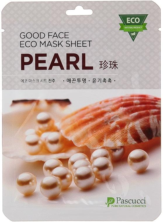 Маска для лица с экстрактом жемчуга - Amicell Pascucci Good Face Eco Mask Sheet Pearl